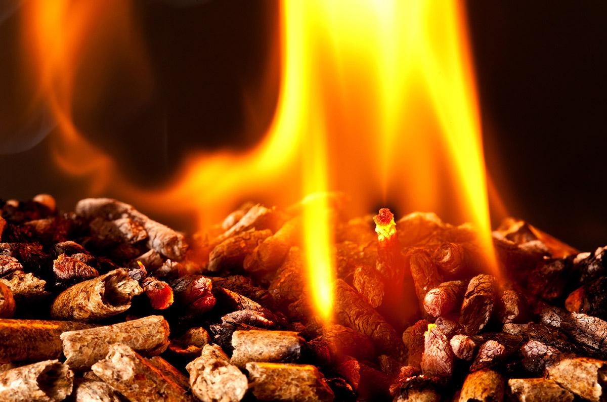 Estufa de aire, consumo de pellets